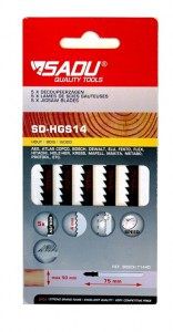Jigsaw blade Sadu bosch type rough wood  - per 5